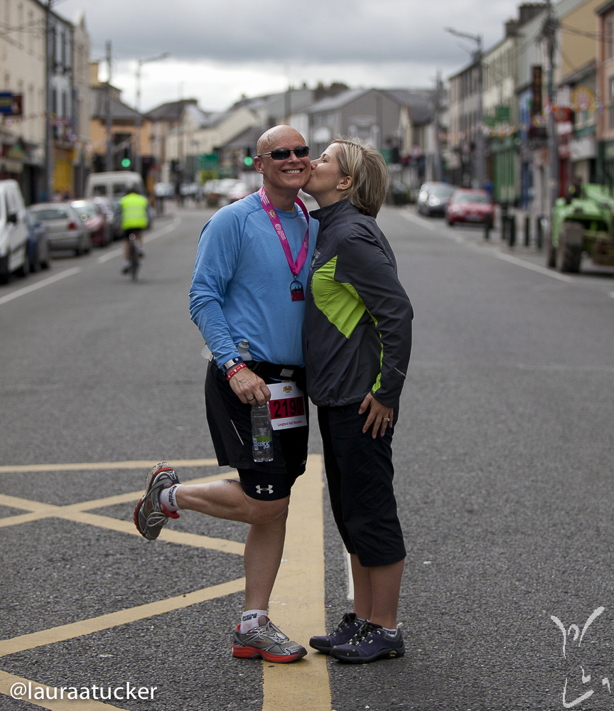 Me and my husband Tony after he completed his first sub 2 hour 1/2 Marathon in Longford, Ireland
