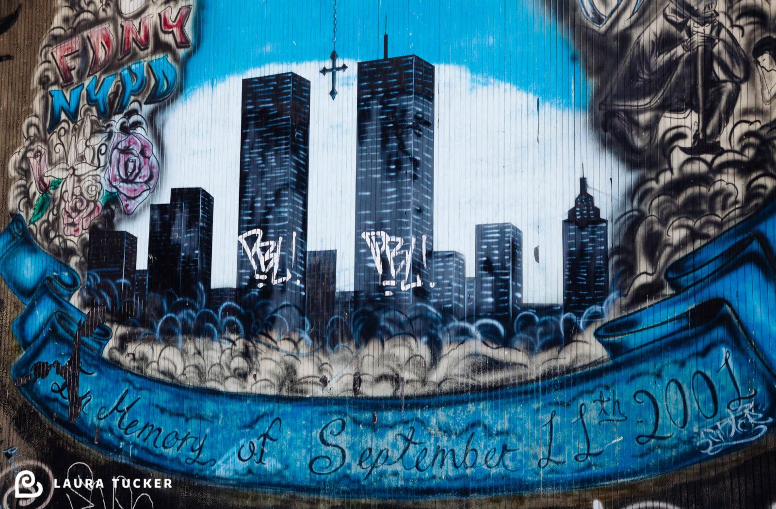 September 11 Memorial Graffitti