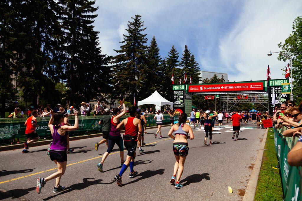 Photo of Ottawa Marathon finish line 2017 - Laura's Daily Letter